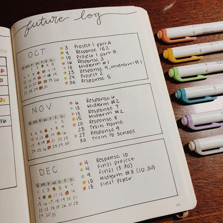 Color-Coded planner