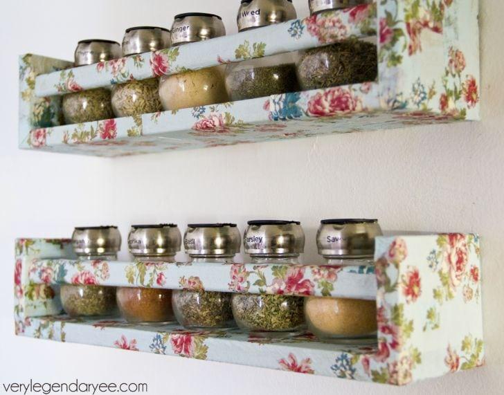 DIY IKEA Spice Rack Redo