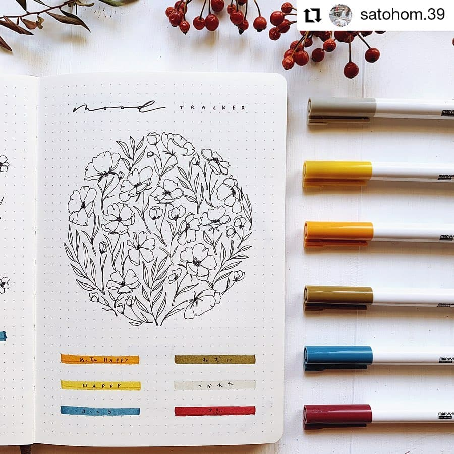 Floral Bunch Mood Tracker
