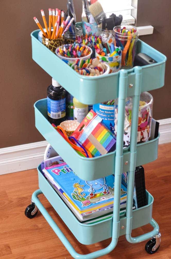 IKEA Raskog Cart for Kids Art Supplies