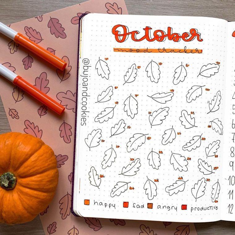 October mood tracker