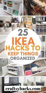 ikea hacks for organizing