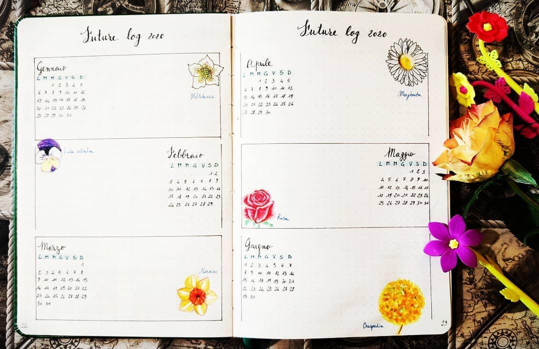 Floral bullet journal
