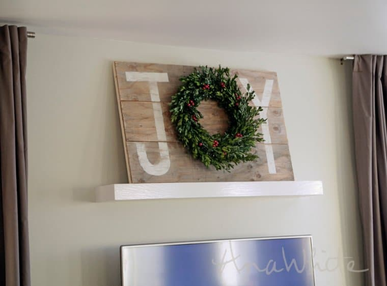 joy christmas wall art