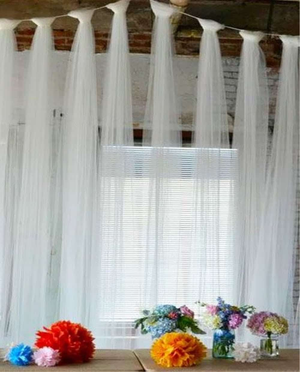 White LILL Curtains