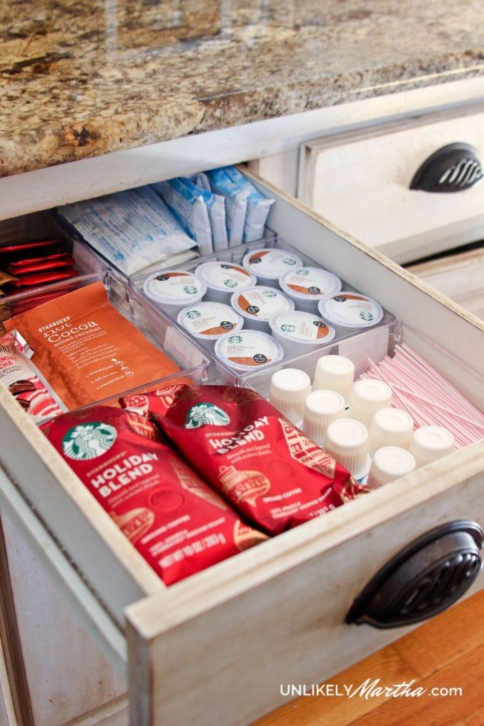 drawer coffee station