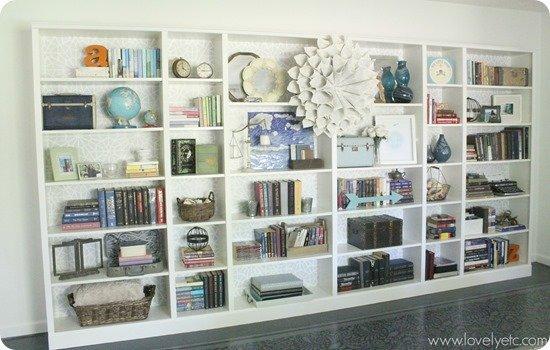 DIY Moroccan Stenciled Bookcases