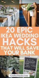 ikea wedding hacks