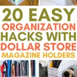 dollar storeorganization with magazine holders