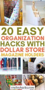 dollar storeorganization with magazine holders