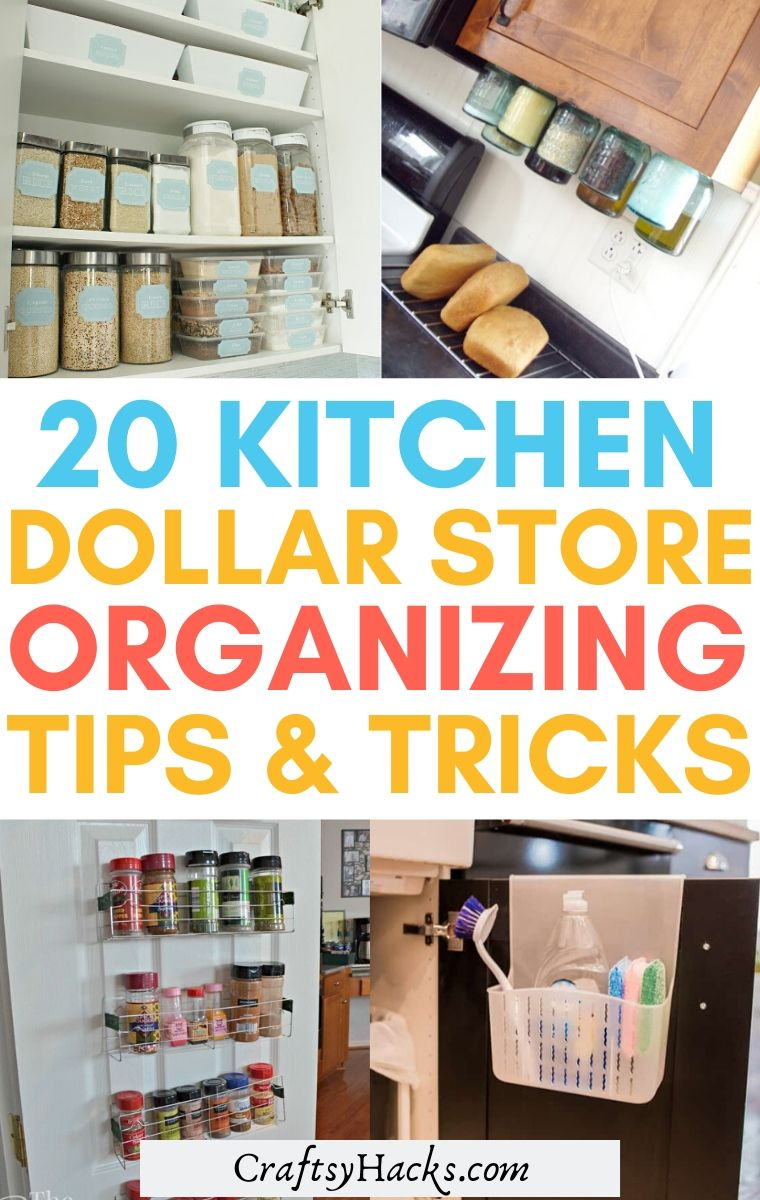 kitchen dollar store organizing tips and tricks