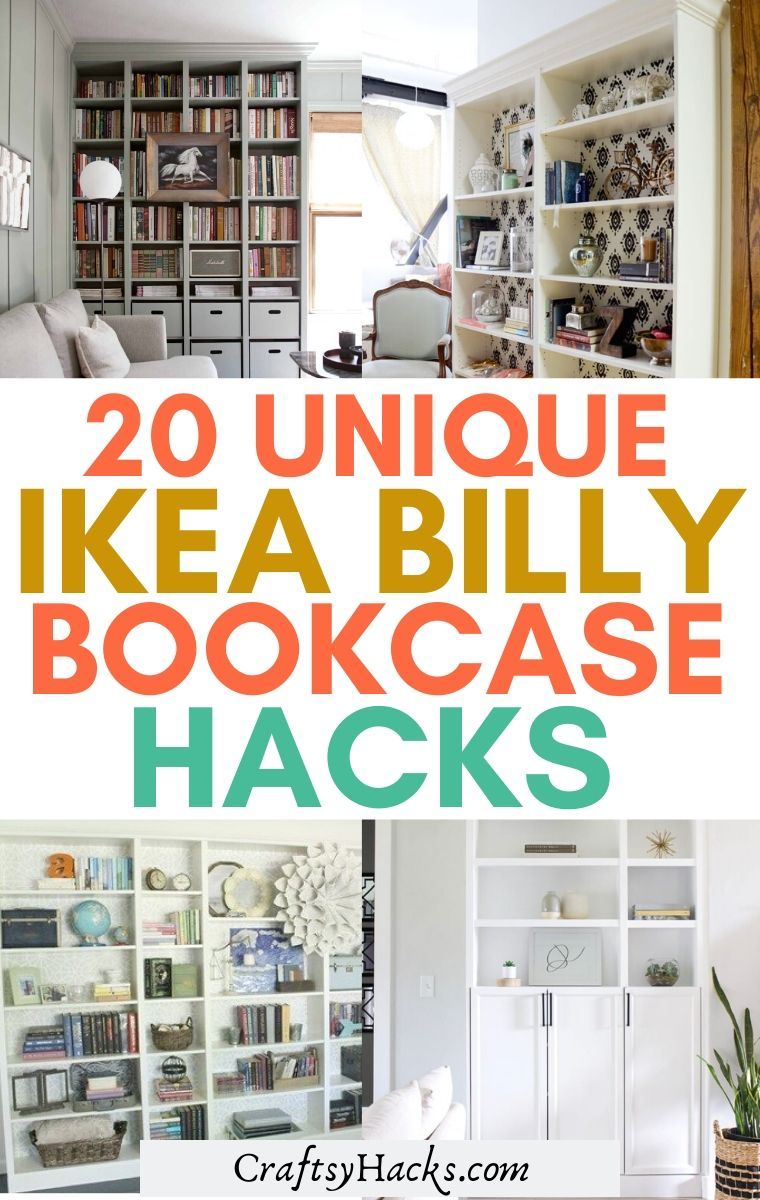 unique ikea billy bookcase hacks
