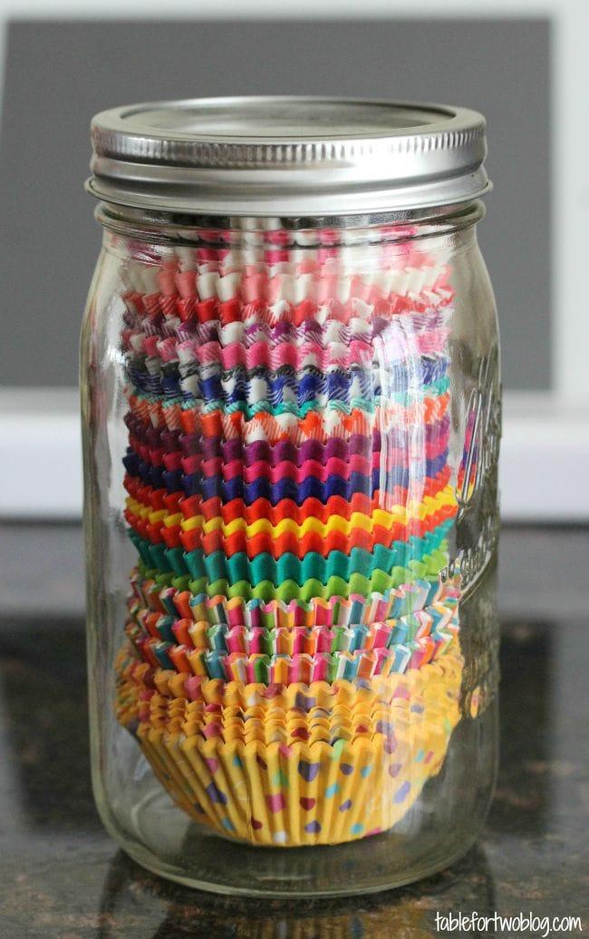 cupcake liner jar