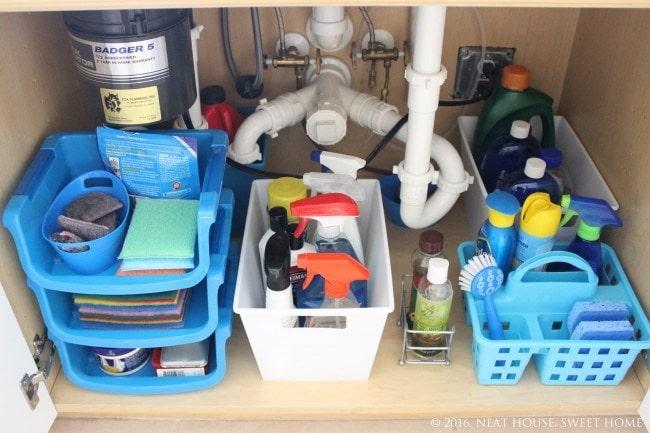 under the sink organization