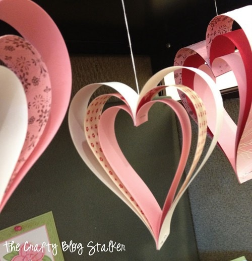 Paper Strip Heart Decorations