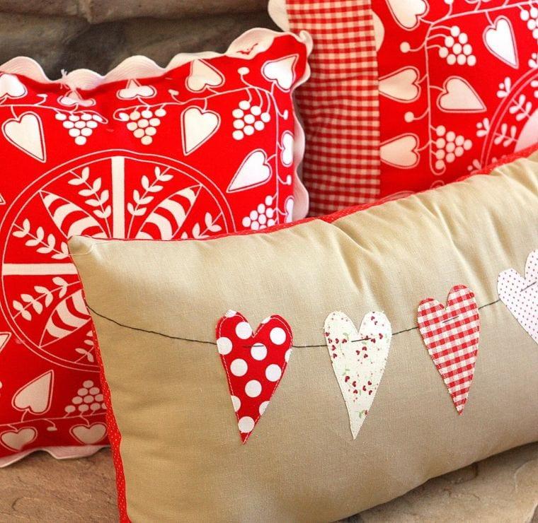 Valentine Banner DIY Pillow