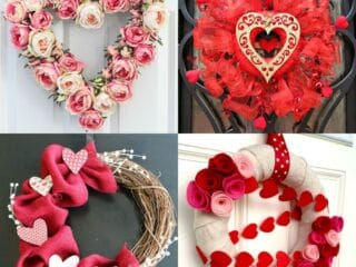 20 Valentine Wreath Ideas