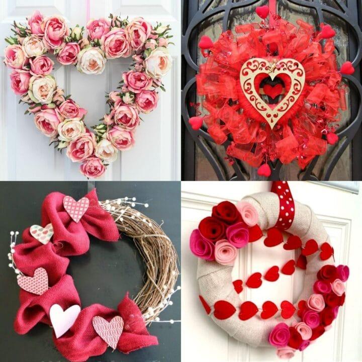 20 Valentine Wreath Ideas