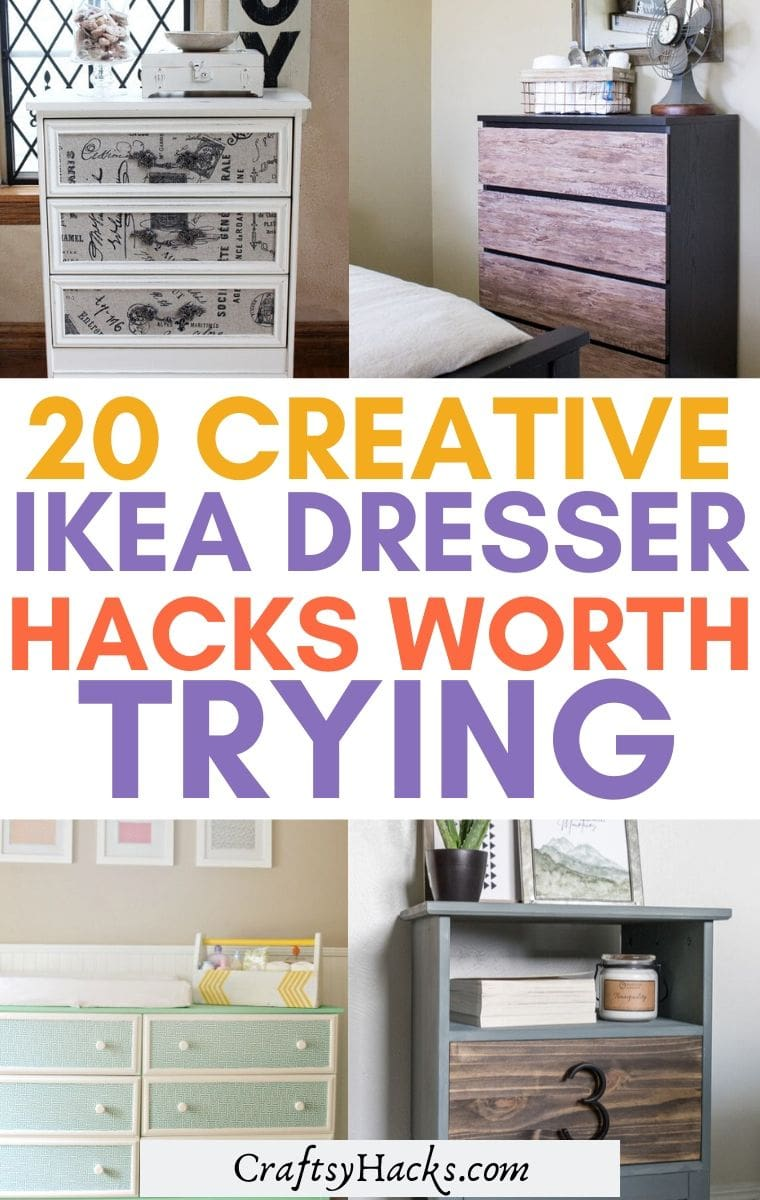 20 Ikea Dresser Hacks For Your Bedroom Craftsy Hacks
