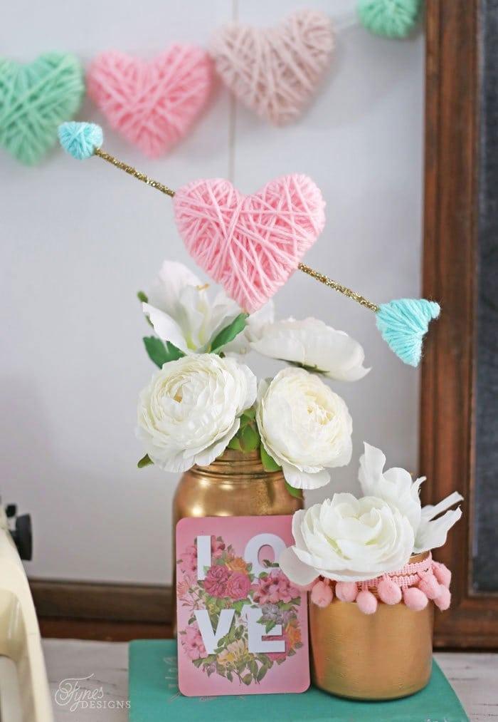 Beautiful Yarn Hearts