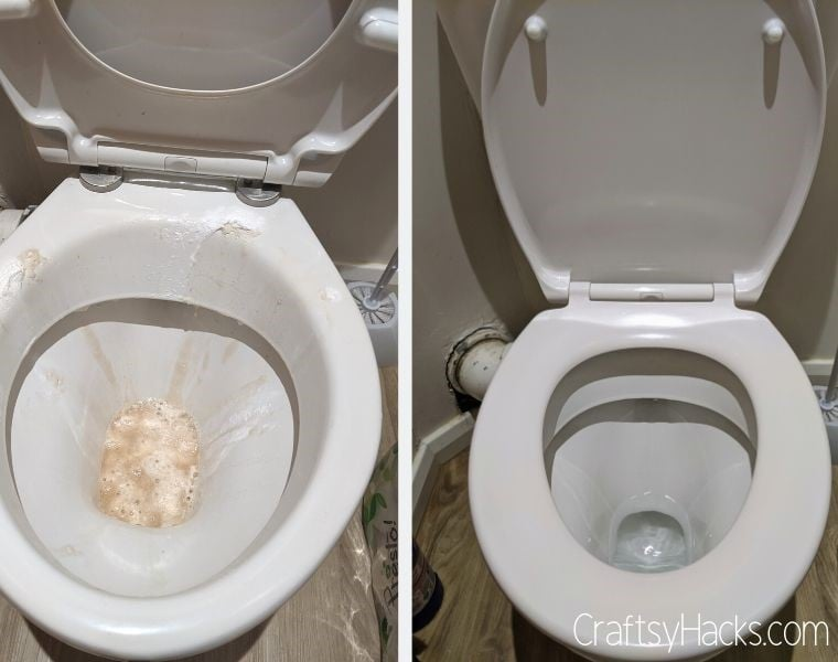 clean toilet with soda