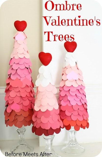Ombre Heart Tree