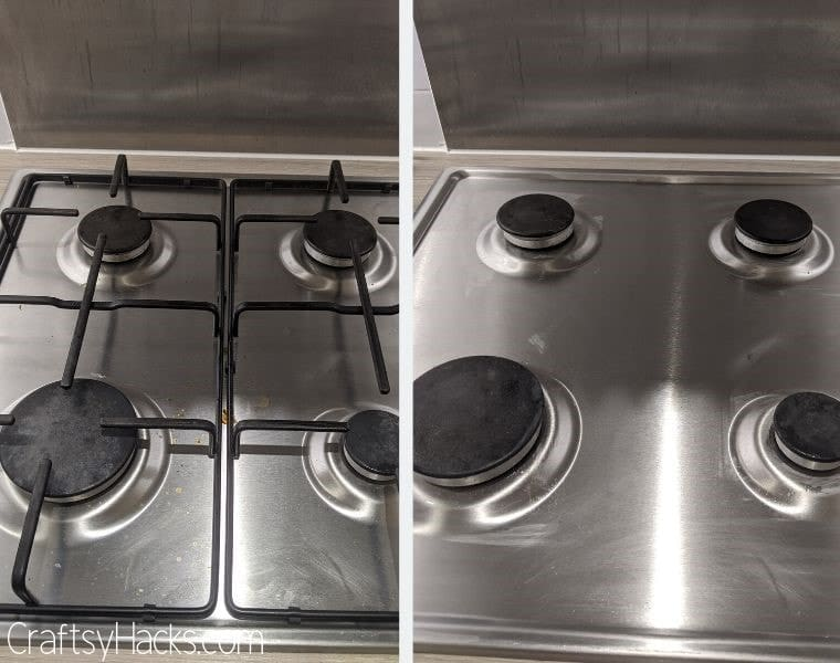 sanitize stove with soda