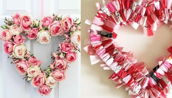 diy valentines wreaths