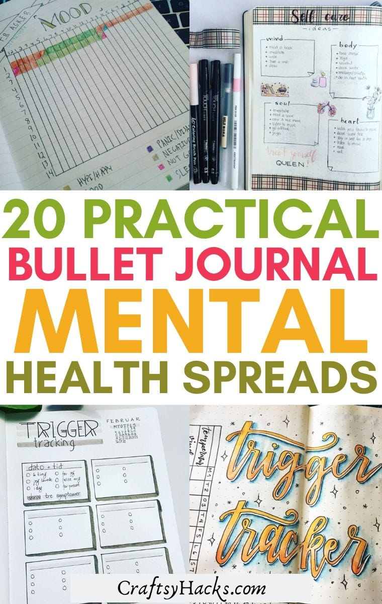 bullet journal mental health spreads