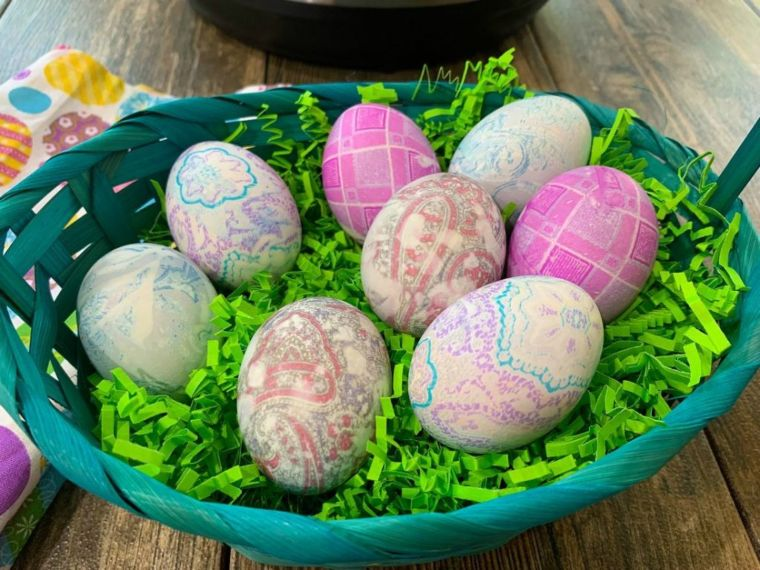 Silky Tie-Dyed Eggs
