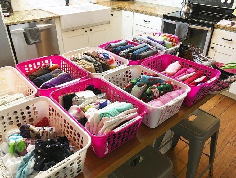 laundry basket organizers