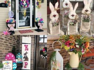 20 Cute Easter Porch Decor Ideas