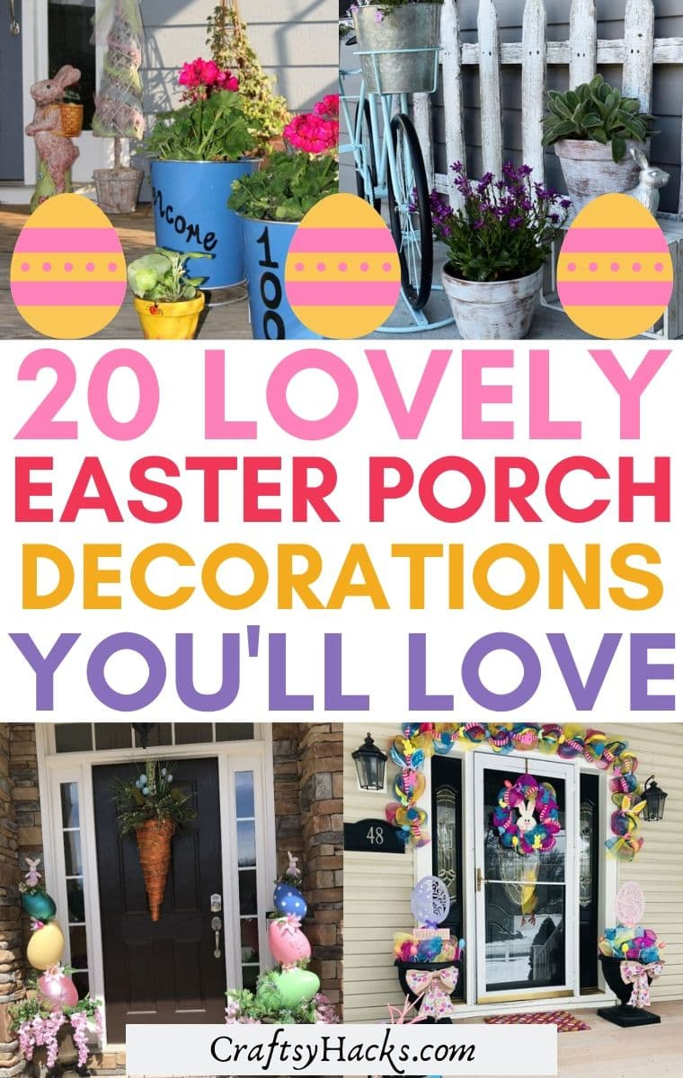 easter porch decorations