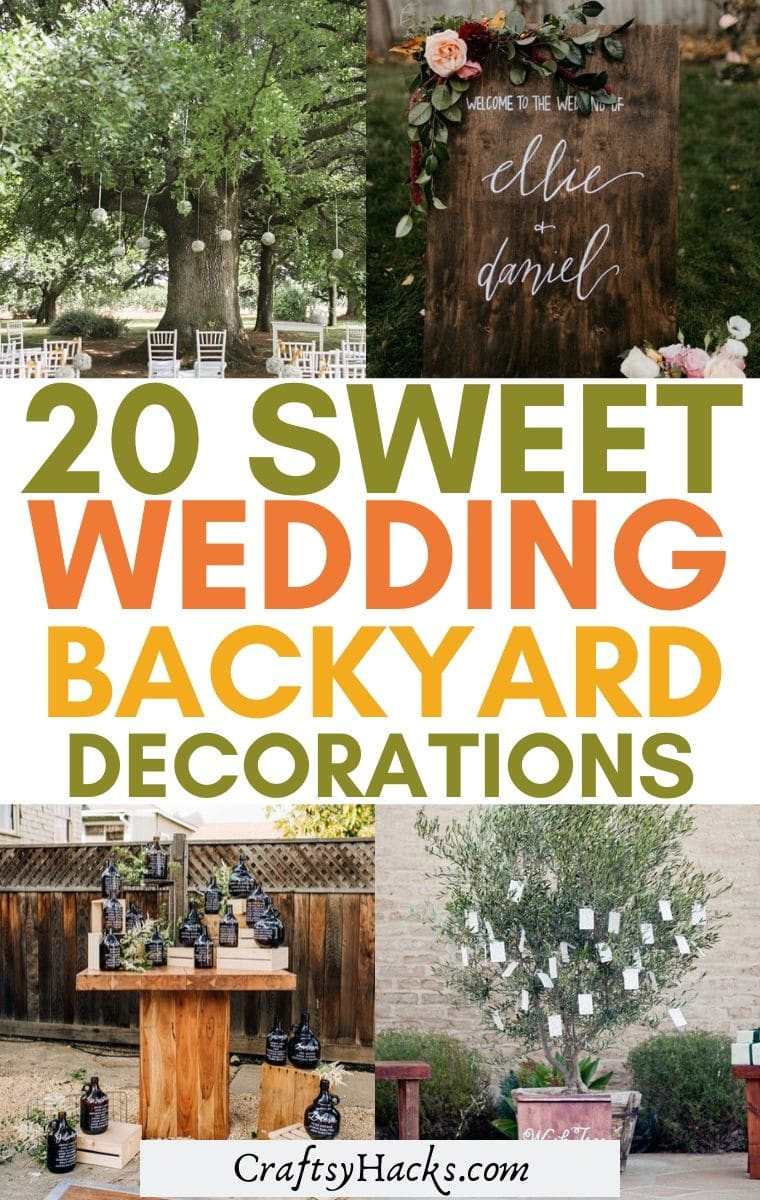 20 Creative Backyard Wedding Ideas on a Budget - Craftsy Hacks