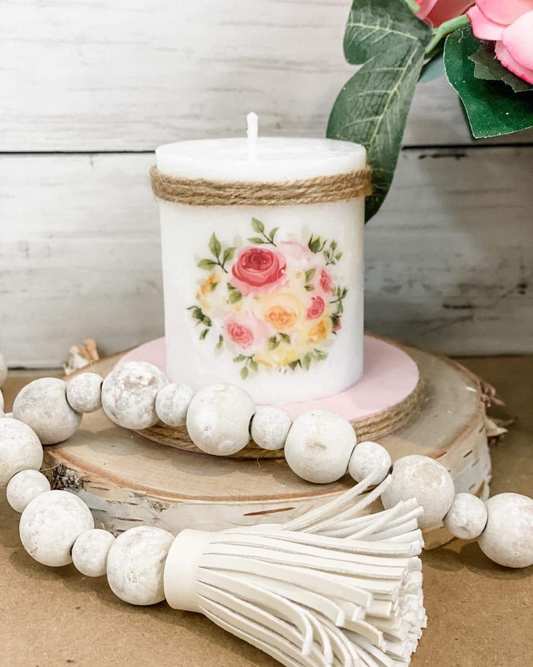 Floral Vintage Candle