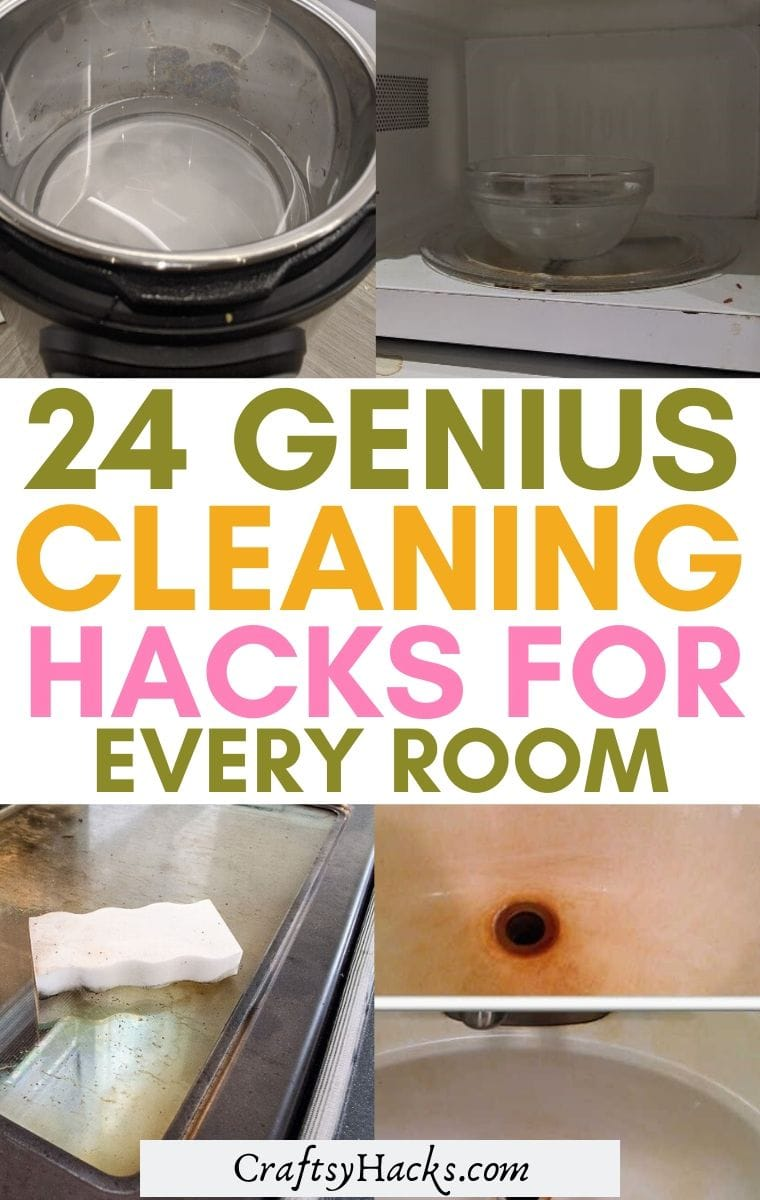 genius cleaning hacks for every room