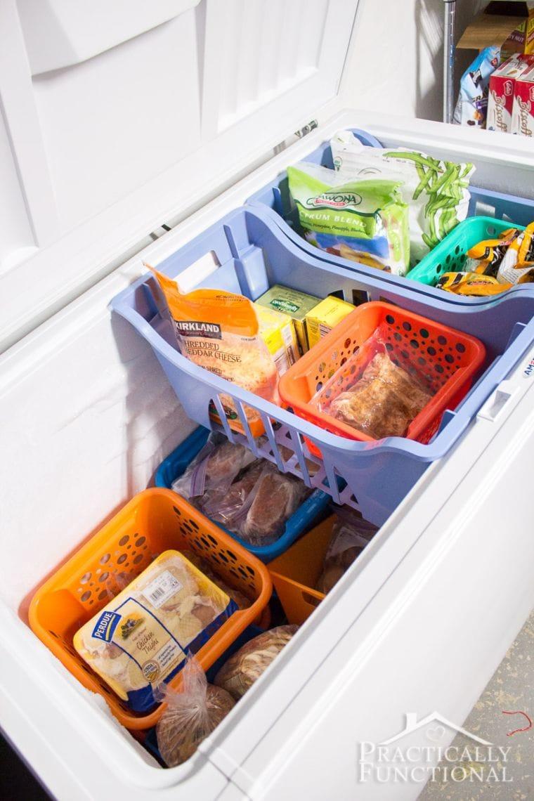 baskets in freezer