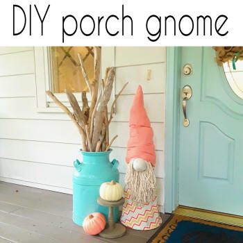 diy porch gnome