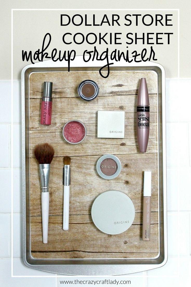 cookie sheet makeup organizer