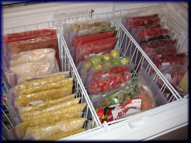 ziplock bags in freezer