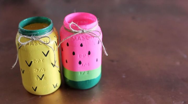 DIY Fruity Mason Jar