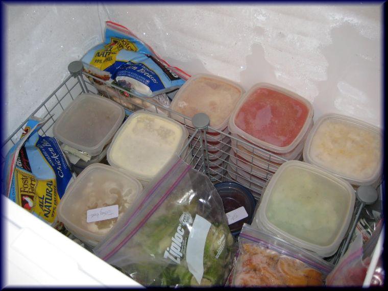 plastic freezer organizers