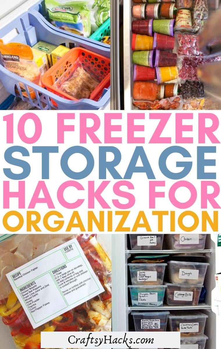 freezer storage hacks