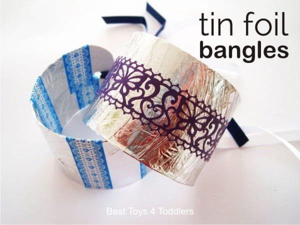 tin foil bangles