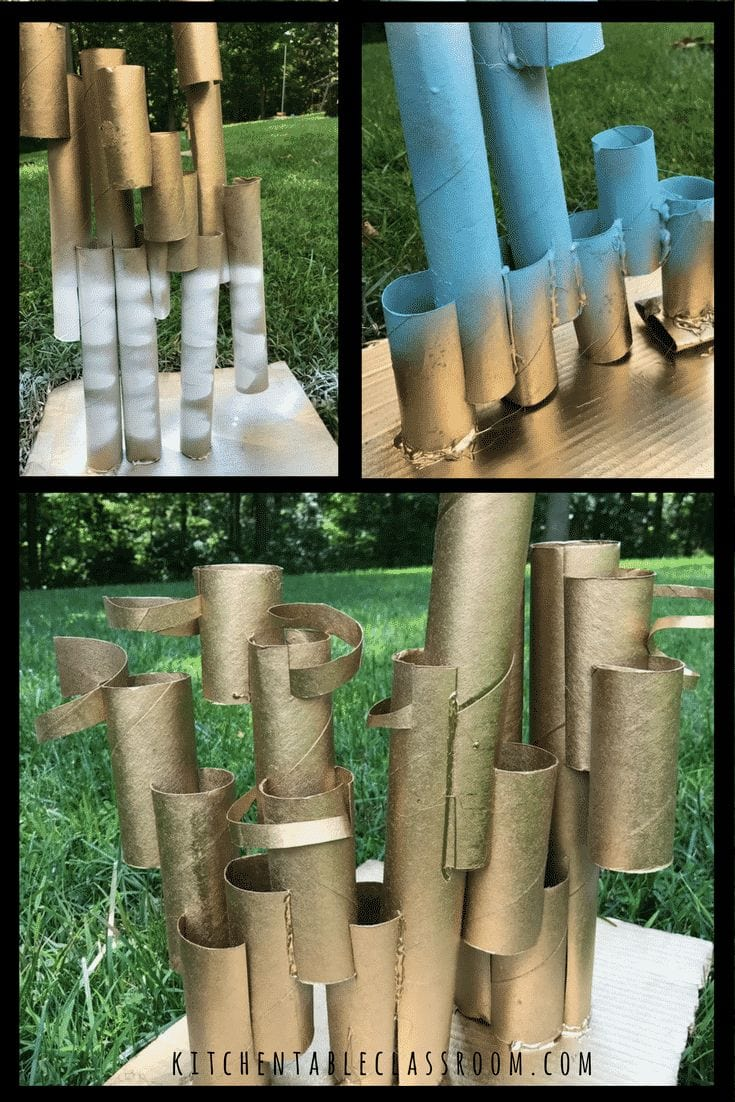 Cardboard Roll Sculptures