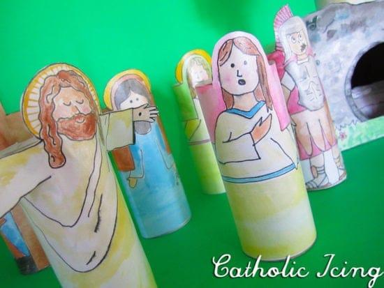 Cardboard Easter Resurrection Scene