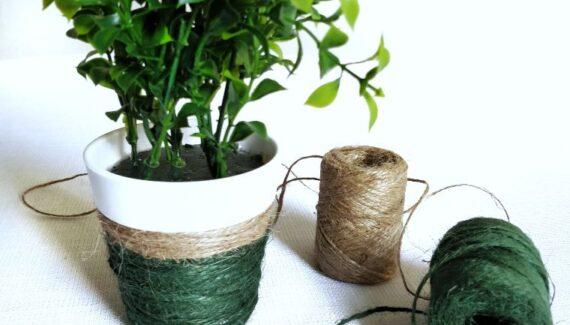 diy flower pot thread wrapped (1)