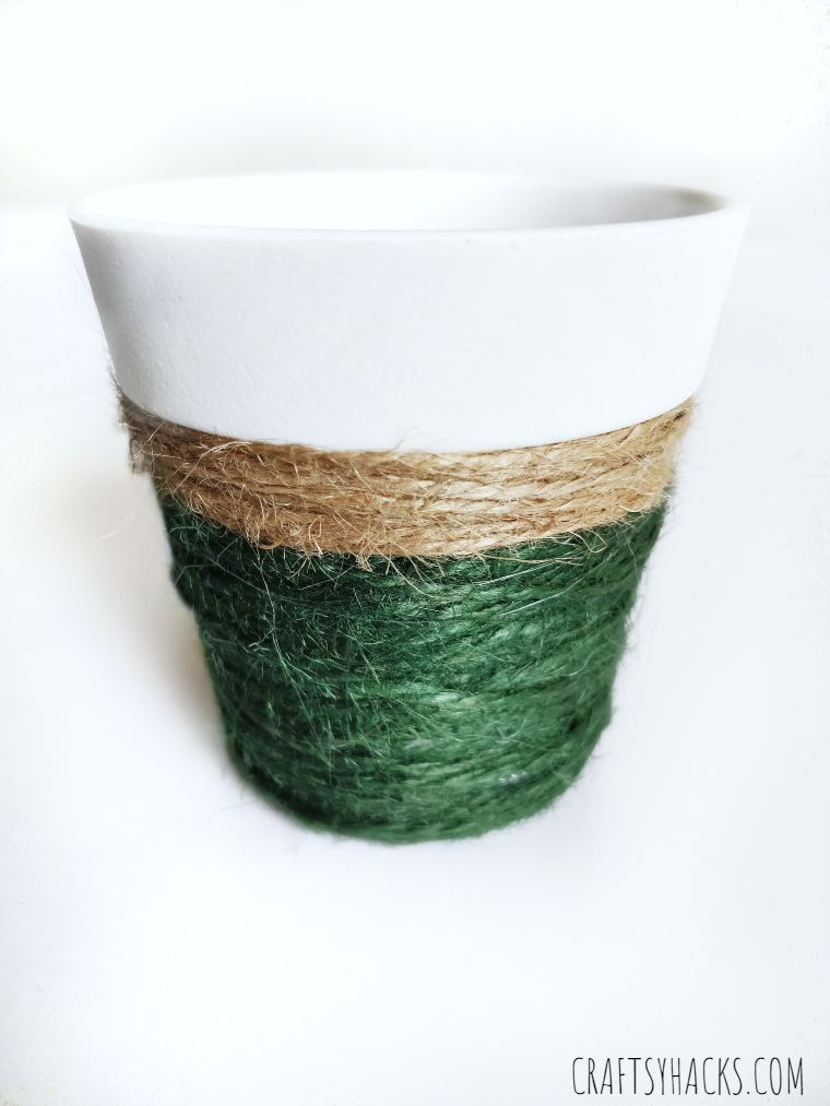 diy planter with twine