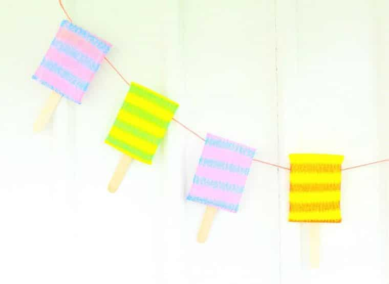 Colorful Popsicle Banners