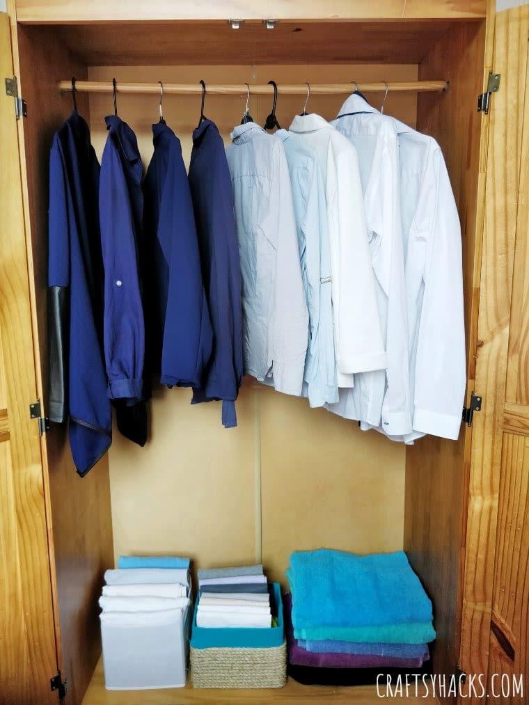closet organizer craft